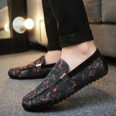 Peas Kasual Mudah Dipakai Ringan Musim Panas Sepatu Sepatu Kanvas (Yg-h-2/Hitam Dan Merah)