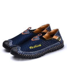 Spesifikasi Sepatu Flat Santai Pria 10628 Biru 10628 Biru Murah