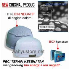 Peci sehat topi kopiah warna Putih alat terapi kesehatan dengan bio energi & ion negatif