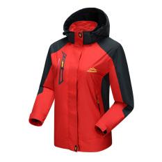 Toko Jual Pecinta Pria Dan Wanita Musim Semi Dan Gugur Ayat Single Layer Bagian Tipis Gunung Luar Ruangan Jaket Perempuan Merah