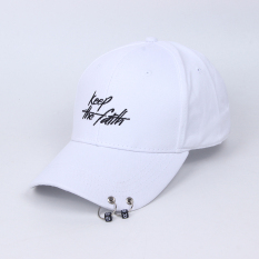 Spesifikasi Tren Menara Topi Topi Keep Ganda Lingkaran Gesper Putih Oem