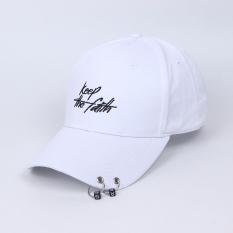 Jual Tren Menara Topi Topi Keep Ganda Lingkaran Gesper Putih Oem