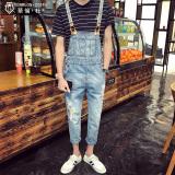 Review Pada Pemuda Musim Panas Slim Kaki Kecil Jumpsuit Denim Romper Pendek Gambar Warna Celana Pria Celana Panjang Pria Celana Jeans