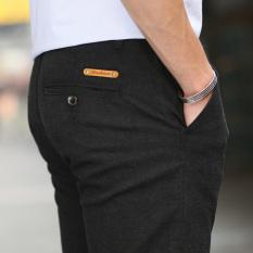 Beli Pengamplasan Laki Laki Slim Lurus Pakaian Pria Celana Qiudong Celana Panjang Hitam Celana Pria Celana Panjang Pria Celana Chino Celana Cargo Di Tiongkok
