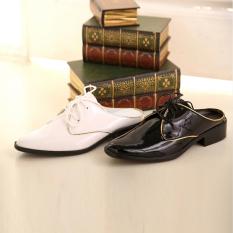 Pengantin Pria Pernikahan Fotografi Foto Anda Mengambil Gambar dari Sandal Pria Sepatu (Putih)