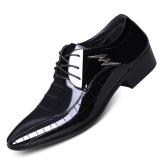 Toko Pria Inggris Sepatu Golden Goose Sepatu Kulit Pria Sepatu Pria Hitam Dan Oranye 9661 Kulit Hitam Termurah Tiongkok