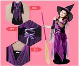 Jual Penyihir Halloween Untuk Anak Perempuan Kostum Ungu Branded Murah