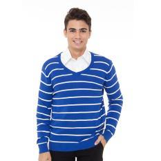 Toko People S Denim Men Nazgull V Neck Long Sleeve Sweater Biru Lengkap Di Dki Jakarta