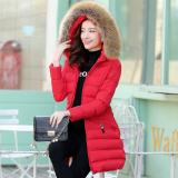 Jual Baju Katun Mantel Musim Dingin Perempuan Setengah Panjang Model Baru Musim Dingin Merah Baju Wanita Jaket Wanita Original
