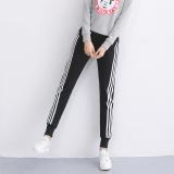 Review Terbaik Perempuan Bagian Tipis Adalah Celana Tipis Kasual Celana Olahraga 921 Hitam