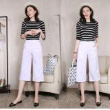 Toko Jual Perempuan Bagian Tipis Pinggang Tinggi Celana Lebar Kaki Celana Longgar Putih Baju Wanita Celana Wanita