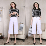 Jual Perempuan Bagian Tipis Pinggang Tinggi Celana Lebar Kaki Celana Longgar Putih Baju Wanita Celana Wanita Di Bawah Harga
