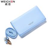 Toko Perempuan Bahu Messenger Kecil Paket Wallet Light Blue Murah Tiongkok