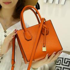 Jual Beli Perempuan Baru Korea Fashion Style Tas Wanita Tas Kecil Shishang Oranye