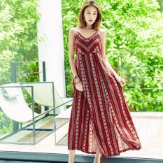 Perempuan Baru Pantai Rok Baju Pantai (Arak Anggur Warna) baju wanita dress wanita Gaun wanita
