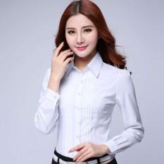 Beli Perempuan Baru Putih Kemeja Kemeja Putih Lengan Panjang Baju Wanita Baju Atasan Kemeja Wanita Blouse Wanita Seken
