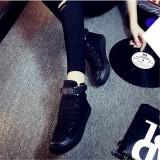 Spesifikasi Perempuan Datar Siswa Renda Sepatu Semua Hitam Sepatu Kanvas Penuh Hitam Yg Baik