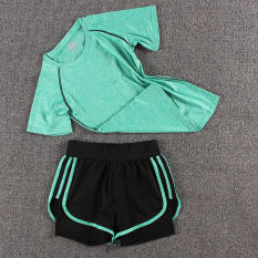 Toko Perempuan Gym Joging Celana Pakaian Yoga Symphony T Hijau Tiga Sisi Celana Pendek Symphony Hijau Terdekat