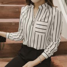Beli Korea Lengan Panjang Wanita Baru Baju Dalaman Kemeja Putih Dengan Kartu Kredit
