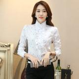 Jual Korea Fashion Style Tambah Beludru Perempuan Musim Gugur Yang Hangat Kemeja Lengan Panjang Kemeja Dot Branded