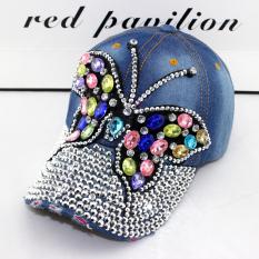 Spesifikasi Perempuan Musim Panas Berlian Kupu Kupu Denim Topi Topi Berlian Kupu Kupu No 3 Warna Murah Berkualitas