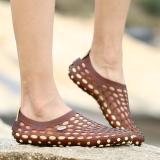 Spesifikasi Beberapa Sandal Sepatu Perempuan Sepatu Anti Slip Perempuan Diluar Ruangan Coklat Gelap Yg Baik