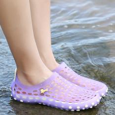 Harga Perempuan Pantai Musim Panas Sepatu Lubang Sandal Ungu Yang Murah
