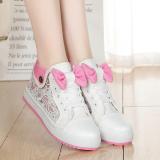 Spesifikasi Perempuan Remaja Anak Perempuan Musim Semi Sepatu Wanita Pergelangan Kaki Tinggi Kanvas Sepatu Putih E81 Yang Bagus