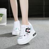 Jual Perempuan Sepatu Golden Goose Perempuan 10 Cm Sepatu Penambah Tinggi Sepatu Kets Putih Musik Putih Grosir