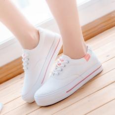 Perempuan Sepatu Angsa Emas Kets Putih Musim Panas Sepatu Wanita (Merah Muda Warna)
