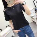 Harga International Perempuan Slim Renda Siswa Atasan T Shirt 557 Hitam Baju Wanita Baju Atasan Kemeja Wanita Oem Original