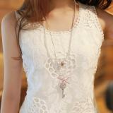 Jual Perempuan Slim Terlihat Langsing Atasan Bawahan Harness Vest 132 Putih Oem Original