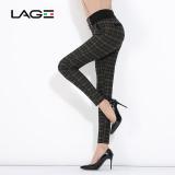 Perempuan Slim Terlihat Langsing Legging Keelastikan Kasual Celana Jaringan Hijau Original