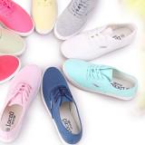 Spesifikasi Perempuan Warna Permen Bernapas Untuk Membantu Rendah Kanvas Sepatu Sepatu Kets Putih Putih Sepatu Wanita Sepatu Sport Sepatu Sneakers Wanita Lengkap Dengan Harga
