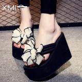 Toko Perempuan Yang Berat Itu Non Slip Pantai Sandal Sandal Sandal Model Perempuan 7117W Benci Hari Tinggi Putih Busur Sepatu Wanita Sandal Wanita Online Tiongkok