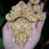 Harga Perhiasan Bali Set Bros Alpaka Aksesoris Khas Bali Cincin Anting Bros Lengkap