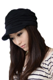Jual Beli Peringkat Teratas Wanita Gaya Korea Lipit Topi Pet Topi Rajutan Topi Hitam