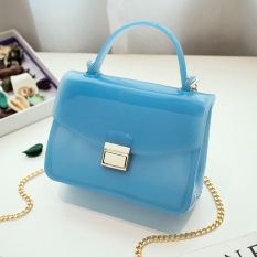 Permen berwarna plastik transparan Mini rantai tas kecil tas tas jelly (Hitam) OT571FAAATV4OZANID-