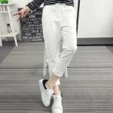 Spesifikasi Korea Fashion Style Musim Semi Dan Musim Panas Baru Renda Kasual Celana Celana Celana Katun Putih Putih Lengkap Dengan Harga