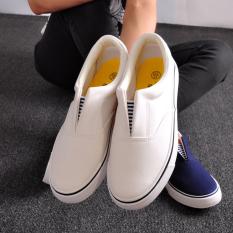Pernah Berkunjung Luar Biasa Korea Modis Gaya Perempuan Semi atau Kasual Sepatu Bola Musim Panas Sepatu Kanvas (Putih)