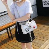 Persegi Kecil Korea Fashion Style Bordir Baru Kunci Bahu Tas Selempang Tas Tali Rantai Nasi Putih Di Tiongkok