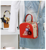Spesifikasi Persegi Kecil Korea Fashion Style Mini Ran Kecil Tas Tas Merah Dan Harga