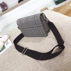 Toko Persegi Kecil Korea Fashion Style Motif Swallow Gird Bahu Lebar Sabuk Selempang Miring Tas Kecil Tas Wanita Abu Abu Di Tiongkok
