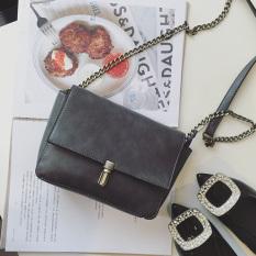 Jual Beli Persegi Kecil Retro Perempuan Baru Mini Messenger Bag Ran Tas Tas Abu Abu Gelap Di Tiongkok