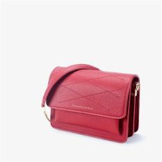 Persegi Kecil Sederhana Baru Tas Tas Desain Organ Bahu Tas Wanita Tas Tas ( Merah)