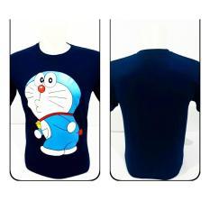 Persidente - kaos Disro T-SHIRT Doraemon 100% Spandex Rayon All Size Kaos Hitam