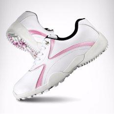 PGM Merek Wanita Dewasa Golf Sepatu Wanita Kenyamanan Sport Sneaker Lady Waterproof Bernapas Ringan Golf Sepatu 2 Warna Ukuran 35 -39-Intl