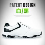 Promo Pgm Pria Super Fiber Leather Non Slip Spike Golf Sepatu Ukuran 39 44 Warna Putih Hitam