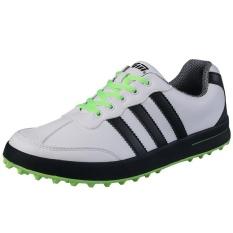 Spesifikasi Pgm Pria Golf Sepatu Kasual Tahan Air Hijau Dan Harganya