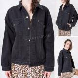 Jual Ph Jaket Denim Wanita Oversize Regular Black Poptastic Asli